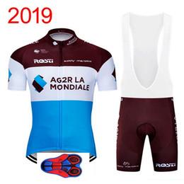 $enCountryForm.capitalKeyWord Australia - Summer AG2R 2019 team Cycling Short Sleeves jersey bib shorts sets 9D gel pad Bike Suit Mens Cycling Clothing Breathable Sportswear 0517