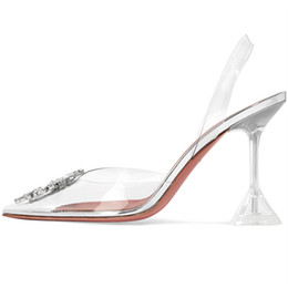 transparent pvc open toe heels 2019 - New talon transparent chaussure sexy high heels transparent high heels pumps women shoes scarpe donna cheap transparent