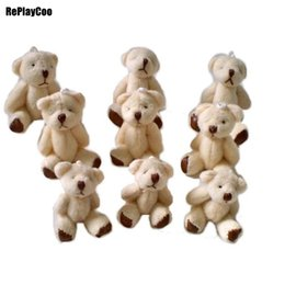Chinese  100pcs lot Kawaii Small Joint Teddy Bears Stuffed Plush 6.5CM Toy Teddy-Bear Mini Bear Ted Bears Plush Toys Wedding Gifts 01008 manufacturers