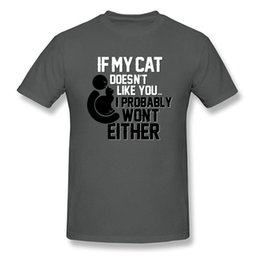 Blue T Shirts For Men Australia - I Trust My Cat T-shirt Funny TShirt For Man Letter Print Tops Cotton T Shirts Summer Short Sleeve Clothes Simple Adult Tees Blue