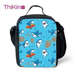 $enCountryForm.capitalKeyWord Australia - Thikin Shark Cartoon Cooler Lunch Box Portable Insulated Lunch Bag Tote PouchThermal Picnic Bags For Women Kids