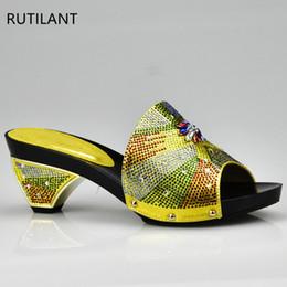 $enCountryForm.capitalKeyWord Australia - Designer New Yellow Elegant Rhinestone Wedding Shoe Italian Women Sandals Shoes For Party African Wedding High Heels Slip On Women Pumps