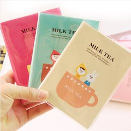Wholesale fresh books for sale – custom Student stationery Cute cartoon fresh thickened diary book Notebook Carry on notepad Cute tea cup pattern book A04