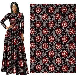 Wholesale Batik Fabric Australia - New arrive African Wax Print Fabric new Wax Hollandais Fabric Ankara African Batik 100% Breathable Cotton red Dot Fabric