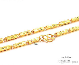 Figaro Chains Australia - 100% 18K YELLOW GOLD FILLED SQUARE LINK CHAIN NECKLACE Figaro Chain