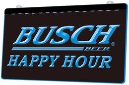 Discount busch neon lights - LS771-b-Busch-Beer-Happy-Hour-Bar-Neon-Light-Sign.jpg Decor Free Shipping Dropshipping Wholesale 8 colors to choose