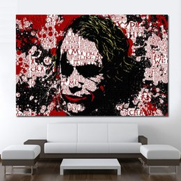 $enCountryForm.capitalKeyWord Australia - 1 Piece Joker Picture Home Decor Figure Painting Modern Canvas Print Art Wall Pictures For Living Room No Frame