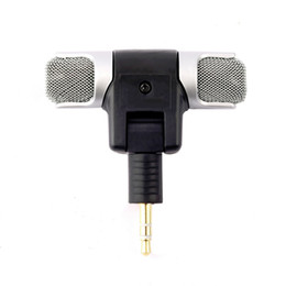$enCountryForm.capitalKeyWord NZ - Portable Mini Stereo Microphone Mic 3.5mm Jack PC Laptop Notebook Worldwide Left and Right Channel Stereo Record Hot Drop