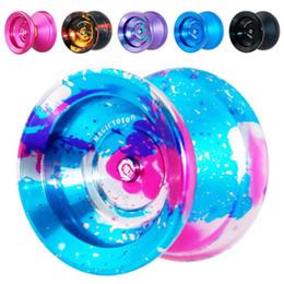 Großhandel Yoyo Professionelle Hand der Kugel spielt Yoyo-Qualitäts-Metall-Legierung Yo Yo Classic Toys Diabolo Magie Geschenk Spielzeug für Kinder