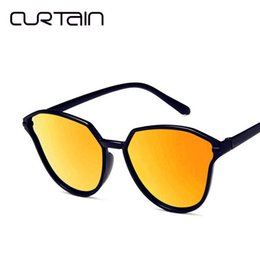 4ef53ef92d CURTAIN Fashion Women Color Luxury Top Cat Eye Sunglasses Elegant oculos de  sol Men Twin Beam Oversized Retro Sun Glasses UV400