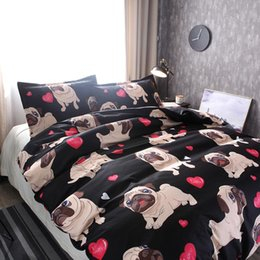 customized bedding sets Australia - 2019 NEW 100% microfiber bedding set customized bulldog print 3pcs duvet cover pillowcase quilt cover set
