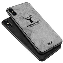 Textile Patterns NZ - Deer Pattern TPU Case Cover For iPhone XS Max XR X 8 7 6 Plus Galaxy S9 Note 9 8 S8 S7 edge