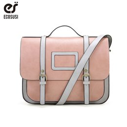 $enCountryForm.capitalKeyWord NZ - Cheap Shoulder Bags ECOSUSI New Women PU Leather Shoulder Bag Retro Handbag Women 13 Inch Laptop Messenger Bags Vintage Briefcase for Work
