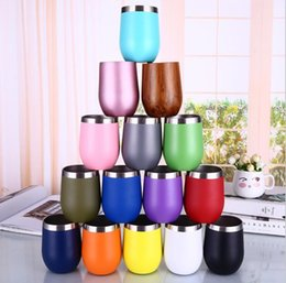 $enCountryForm.capitalKeyWord Australia - 13Colors 9oz Egg Cups with Lids Water Bottles 304 Stainless Steel Wine Tumbler Rose Gold Thermos Coffee Mugs