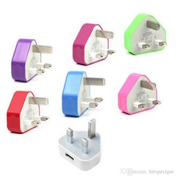 $enCountryForm.capitalKeyWord Australia - UK Colorful Wall Charger Adapter UK Plug USB home Travel adapter multi color for iPad 2 Air iphone 6 5 5S Samsung Galaxy S4 Note 2 3