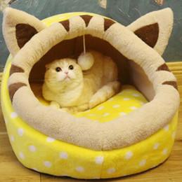 $enCountryForm.capitalKeyWord Australia - Cake Shape Pet House Square Sofa Nest Creative Fashion Soft Pet Bed Removable Dog kennel Cat Nest Puppy Teddy Sleeping Bed