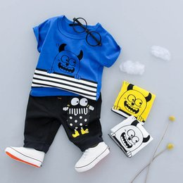 $enCountryForm.capitalKeyWord Australia - Wholesale Summer Girls Clothing Boy Cartoon T-shirt + Shorts Two-piece Bebes Jogging Suit Newborn Baby Clothes Sportswear Set