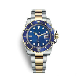 Discount automatic ceramic stainless - Luxury watches Wristwatches Sapphire Blue Luminescent 40mm Ceramic BEZEL Two Tone Gold 116613 116613LB Automatic Mechani