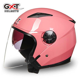 $enCountryForm.capitalKeyWord NZ - GXT G512 dual visor dirt biker helmets for women, electric motorcycle MOTO bicycle scooter safety helmet headpiece red pink