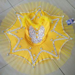 $enCountryForm.capitalKeyWord Australia - Girl Feather BallerinaTutu Costume Child Sequins White Swan Lake Tutu Dance Dress Ballet clothes for Kids Dress for Ballet