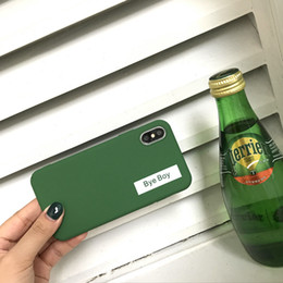 $enCountryForm.capitalKeyWord Australia - green personality simple brief cell phone case for apple X XS MAX XR frosted anti-fall with iPhone 8 7 6S plus cover