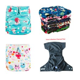 diapers pattern Australia - Ecological diapers 5pcs A Pack BABYLAND Bamboo Charcoal Diaper Baby Nappy Cover Lots of Printed Patterns Bamboo DiapersMX190910
