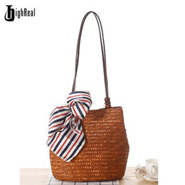$enCountryForm.capitalKeyWord Australia - 2017 Summer Fresh Style Beach Bags Women Weave Straw Shoulder Bag Famous Brand High Quality Traveling Tote Bags Shopping Bag