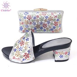 Shoe Purse Matching Australia - New Shoes and Bag Set African Sets 2019 Italian Shoes with Matching Bags for Wedding Italy Elegant Women Party Pumps with Purse