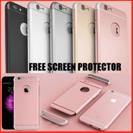 Matte Gold Iphone Case Australia - Luxury 3 in 1 Ultra-Thin 360 Shockproof Hybrid Protection PC Hard Matte Phone Case Cover Shell For Apple iPhone 6 6S 7 8 Plus X XS Max XR