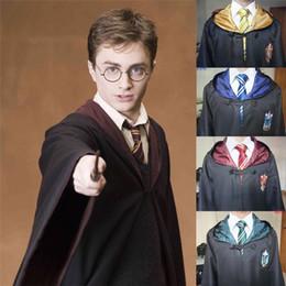 Vente en gros Cape Harry Potter Robe Cape Cosplay Costume Enfants Adultes Robe Harry Potter Cape Gryffondor Serpentard Robe Serdaigle Cape 20pcs