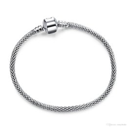 17cm snake chain Canada - 2018 19 Authentic Silver Plated & Silver Snake Chain Bracelets DIY Bracelet Jewelry 17CM-21CM Luxury Jewelry Making DIY LZ20