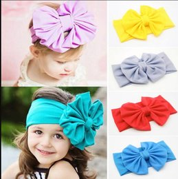 make ribbon hair accessory Australia - 10 Colors Girls Headband With Bow Solid Color Design Elastic Turbam Swee Girl Head Wrap Fashion Hand Made Hair Accessories