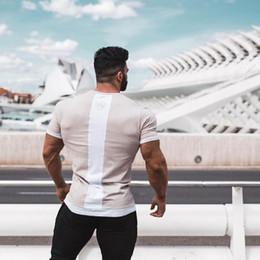 $enCountryForm.capitalKeyWord Australia - Summer Men T-shirt Joggers Gym Running Training Fitness Bodybuilding Slim Sport Top Quality Cotton Short Sleeve Male Tops Tees