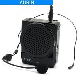 Portable Mp3 Amplifier Speaker UK - 12W Aker MR1505 Waistband Portable Loud Voice Booster Amplifier Speaker Microphone for MP3