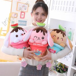Ice cream plush toy online shopping - Ins cute ice cream lop rabbit doll plush toy long eared rabbit sleeping pillow rag doll child gift