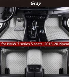 seat floor mats UK - for BMW 7 series 5 seats 2016-2019year Non-slip non-toxic floor mat car floor mat