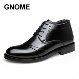 mens dress shoes size 38 NZ - Gnome Brand New Winter Plus Fur Men's Dress Shoes Size 38-44 Black Classic Oxfords For Men Fashion Mens Business Party Shoes