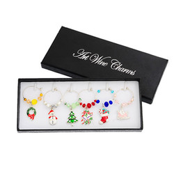 $enCountryForm.capitalKeyWord Australia - oomall 6PCs Box Mixed Wine Charms Christmas Decorations For Home Table Wedding Champagne Tree Snowman Pendant New Year Party Hoomall 6PCs...