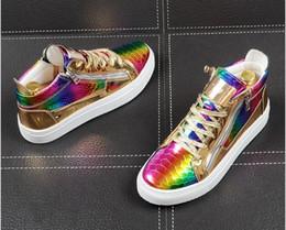 $enCountryForm.capitalKeyWord Australia - Italian Brand gold shiny Designer Shoes Men High Quality Hip Hop Mens Shoes Casual Luxury Famous Leather Tops business Dress Shoes
