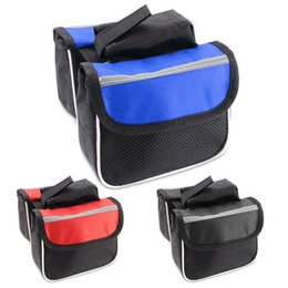 bicycle panniers front UK - Hot Bicycle Cycling Frame Pannier Saddle Front Tube Bag Both Side Double Pouch Promotion