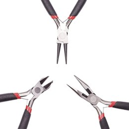 $enCountryForm.capitalKeyWord Australia - PandaHall 3pcs set 45# Steel DIY Jewelry Tool & Equipment Set Round Nose Wire-Cutter and Side-Cutting Jewellery Pliers Black