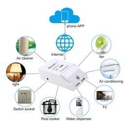 Wireless Switch Controllers Australia - SONOFF Pow Smart Wifi Switch Wireless Remote Control 3500W Home Controller Monitoring Temperature Humidity Light Switch