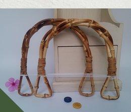 $enCountryForm.capitalKeyWord Australia - 5 Pairs=10 Pieces,17X16cm Natural Bamboo Handles For Bags,Triple Twist Bamboo Nature Handle For DIY Bags Purse Handbags