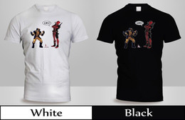 Ice Cream Man Australia - Deadpool T-Shirt Mens BlackWhite Wolverine Ice Cream Marvel Superhero Shirt 2Funny free shipping Unisex Casual Tshirt top