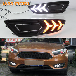 focus drl led NZ - JAZZ TIGER Flowing Turn Signal Function Waterproof 12V Car DRL Lamp LED Daytime Running Light For Ford Focus 4 MK4 2015 - 2018