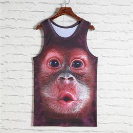 $enCountryForm.capitalKeyWord Australia - 2018 Fashion 3d Animal Print Vest Men Gorilla Monkey Tiger Cat Dog Wolf Hamster Leopard Funny Tank Tops Male Sleeveless T -Shirts