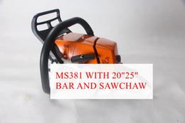 Protable MS381 Chainsaw 72cc serra Gasolina Cadeia COM 18/25 polegadas Bar E Cadeia Saw Free Ship em Promoção
