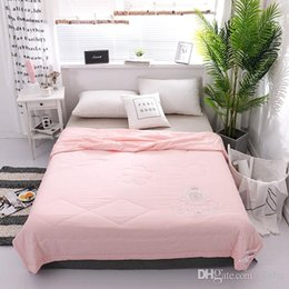 cool bedding Australia - 200*230cm Embroidered Summer Cool Is Soft And Breathable Air Conditioner Is Washable Washed Cool Bedding Set Quilt