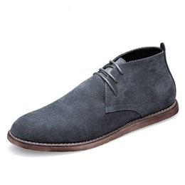 New British Style Casual Leather Shoes Men Spring Autumn Suede Oxfords  Drive Shoes Men Fashion Lace Up Male Flats 6adeb98d9152