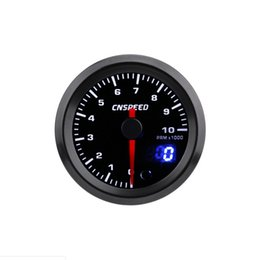 universal car speedometer 2019 - Car universal modified 12V tachometer racing instrument combination kit 2 inch (52mm) Pointer LCD Double Display 7-color